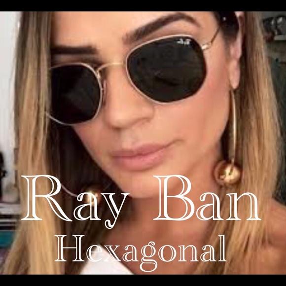 0647f0c988 💯Ray Ban Hexagonal sunglasses
